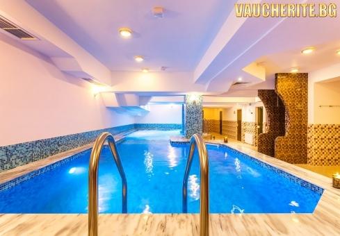 Закуска + вътрешен минерален басейн и СПА център от хотел Романтика, Велинград