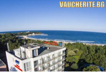 2, 3 или 5 нощувки със закуски и вечери + басейн с чадър и шезлонг, паркинг и детска площадка от хотел КООП Китен на 100м. от плажа