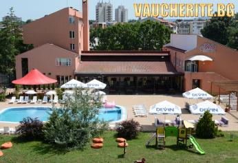 All Inclusive + външен басейн с чадъри и шезлонги, БОНУС ДЕТЕ ДО 11,99 БЕЗПЛАТНО и паркинг от хотел Нева, Китен на 100м. от плажа