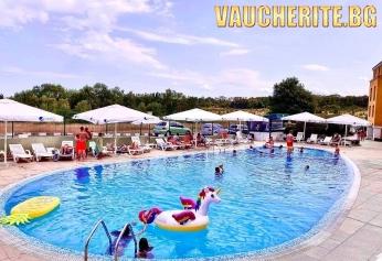 All inclusive + басейн с чадър и шезлонг и ДЕТСКА АНИМАЦИЯ от хотел Серена Резиденс, Каваци край Созопол, на 350м от плажа