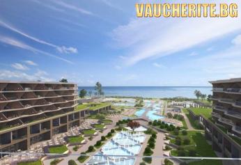 РАННИ ЗАПИСВАНИЯ до 30.06.2021г. Ultra All Inclusive + басейни, чадъри и шезлонги на плажа, аквапарк и детски кът от Wave Resort, Ахелой, до Поморие