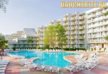 All Inclusive + външен басейн, чадър и 2 шезлонга НА ПЛАЖА и интернет от хотел Лагуна Гардън 4*, на 150м от плажа в Албена