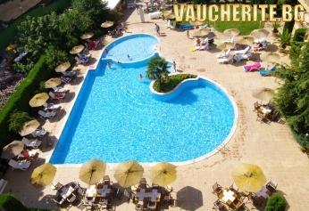 All Inclusive + открит басейн с чадър и 2 шезлонга от хотел Джоя Парк , Златни Пясъци, на 400м от плажа