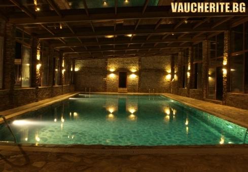Закуска и вечеря + минерален басейн, сауна и парна баня от хотел Петрелийски, Огняново