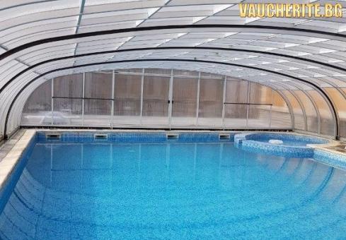 Закуска, обяд и вечеря + басейн с минерална вода, парна баня, сауна, интернет и паркинг от хотел Прим, Сандански